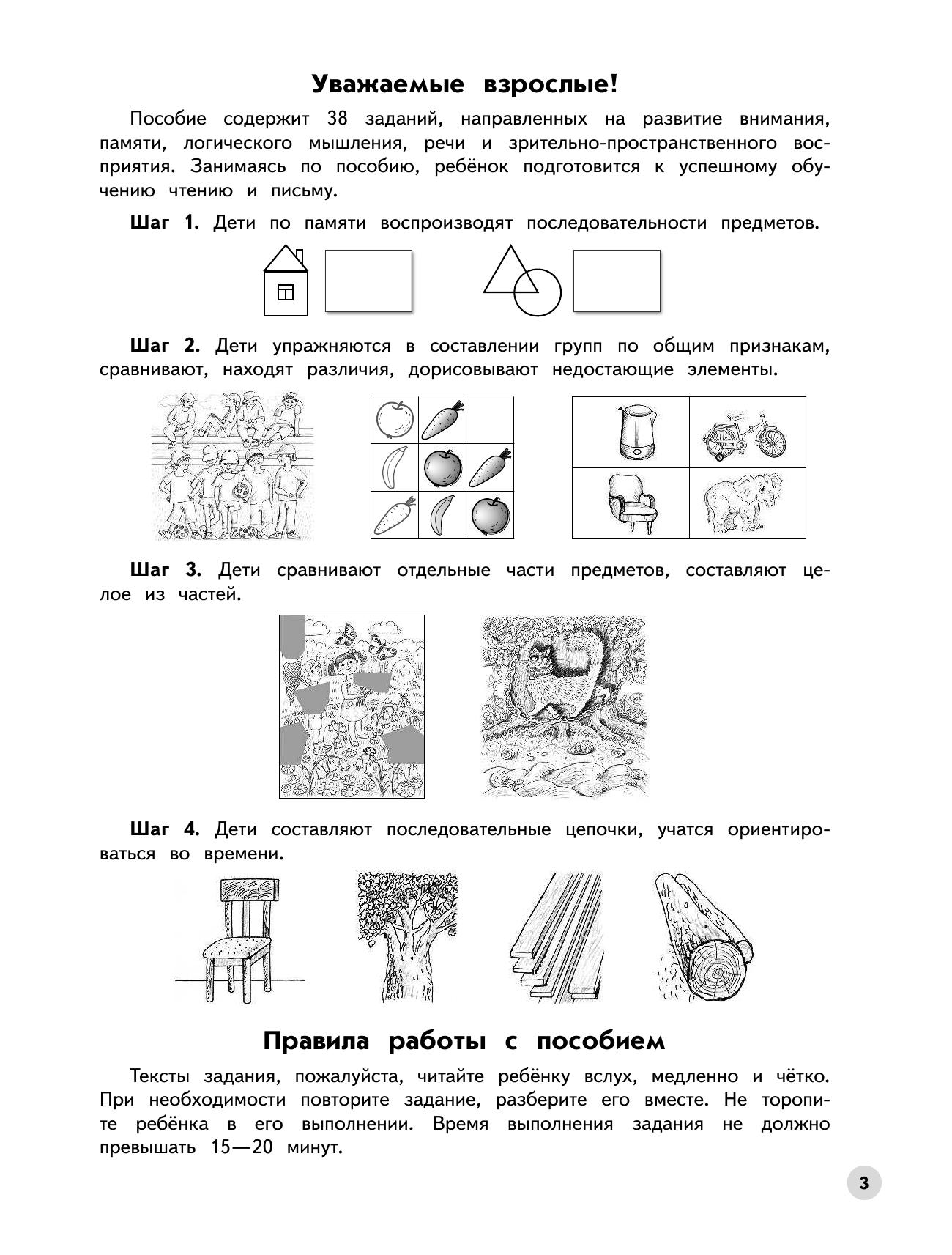 Развиваем логическое мышление и память. Пособие для детей 6-7 лет. - страница 3
